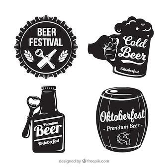 Set of four oktoberfest vintage stickers