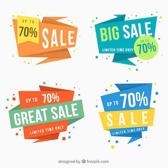 Set of four super sales banners