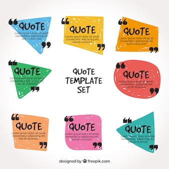 Set of fun quote templates