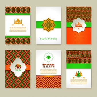 Set of geometric indian flyers