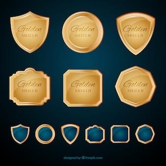 金色の盾のセット