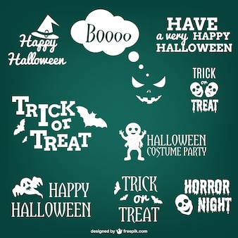 Set of halloween labels and stickers