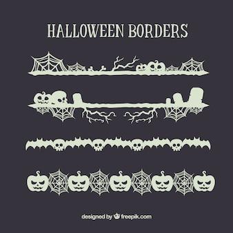 Set of halloween ornaments