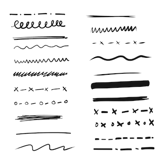 Set of hand drawn lines and dividers