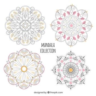 Set of hand drawn mandalas