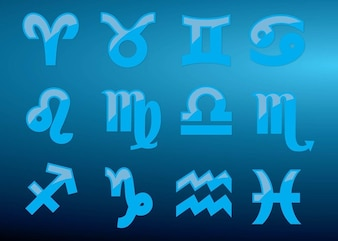 Set of horoscope symbols
