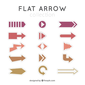 Set of infographic arrows in flat design
