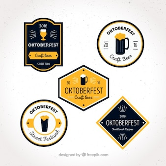 Set of labels for oktoberfest