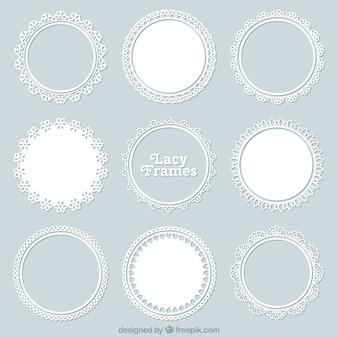 Set of lace decorative frame