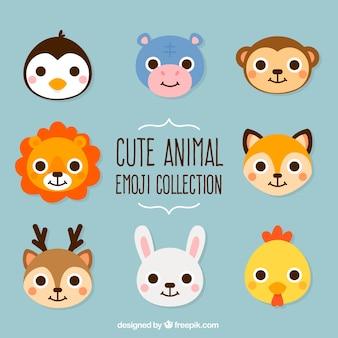 愛らしい動物のセット