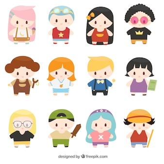 Set of lovely children characters