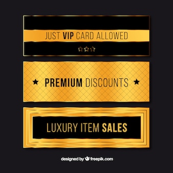Set of luxurious discount banners