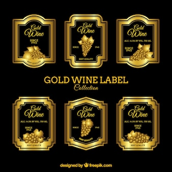 Set of luxury wine labels