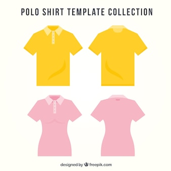 Set of male and female polos