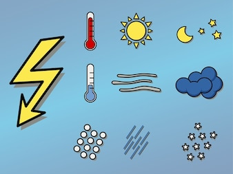 Set of meteorology icons