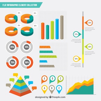Set of modern infographic elements