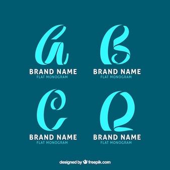Set of monogram logos