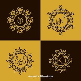 Set of monograms in vintage style