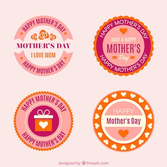 Set of mother's day stickers