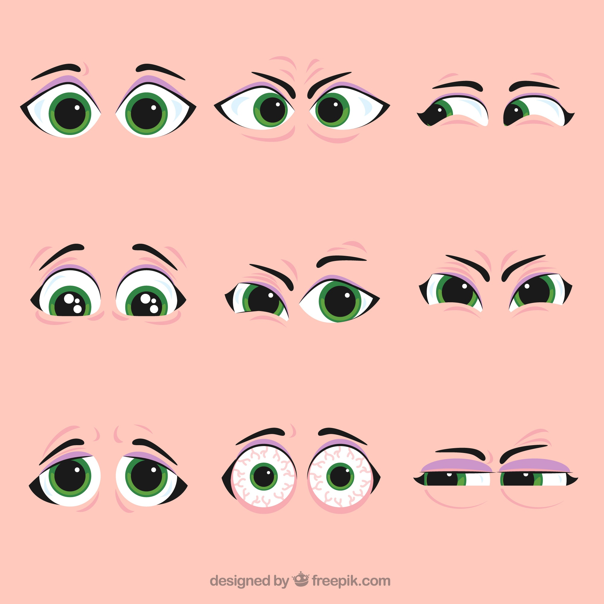 Set of nice character eyes