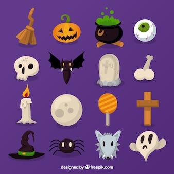 Set of nice items for halloween