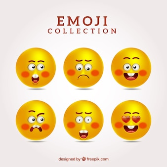 Set of nice yellow emoticons