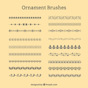 Set of ornamental borders