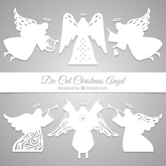 Set of paper angels
