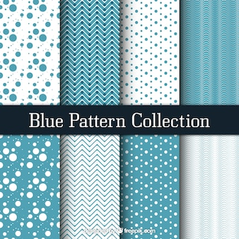 Set of patterns with abstract designs