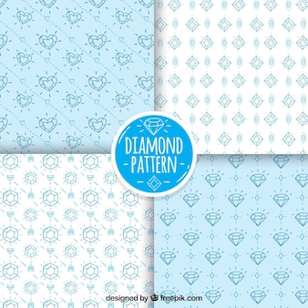 Set of patterns with diamond sketches
