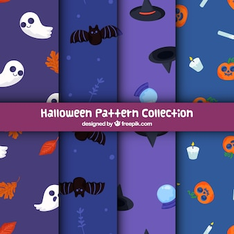 Set of patterns with halloween elements
