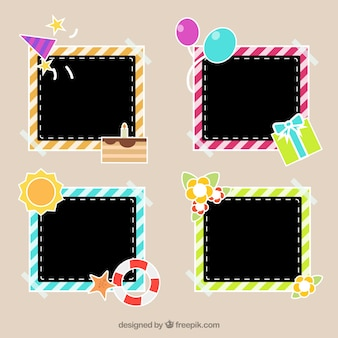Set of photo frames with decoration