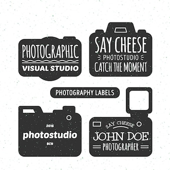 Set of photo labels in vintage style