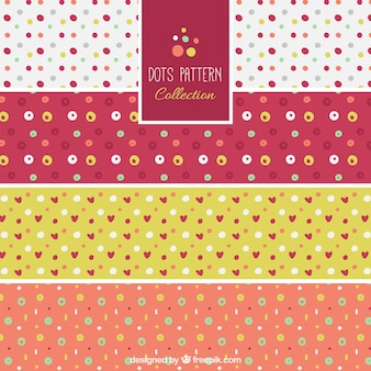 Set of polka dot patterns