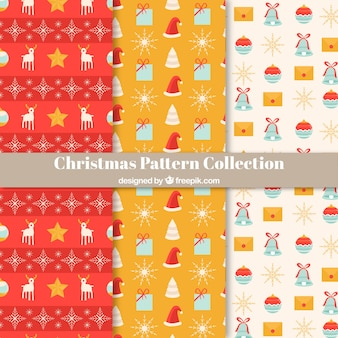 Set of pretty christmas patterns