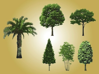 Set of realistic trees