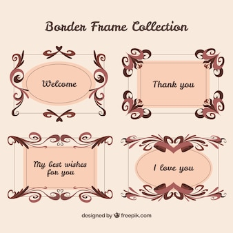 Set of retro borders with message