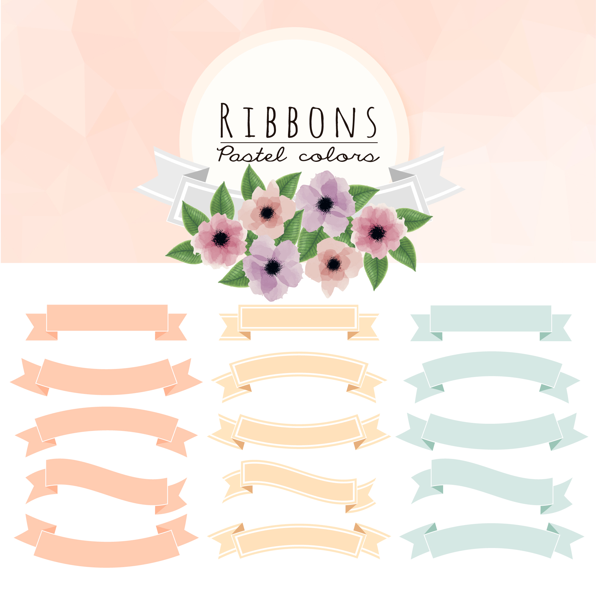 Set of ribbons