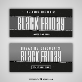 Set of sale banners for black friday