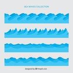 Set of sea waves