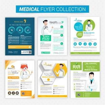 Set of six medical care brochures