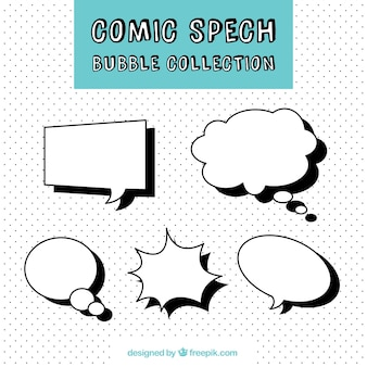 Set of speech bubbles in comic style