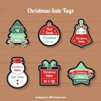 Set of stickers with christmas shapes