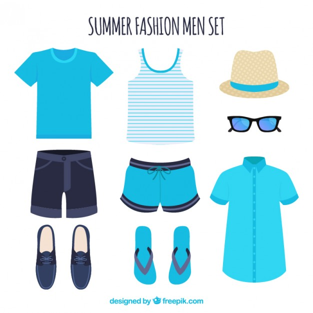 Set of summer clothes for man