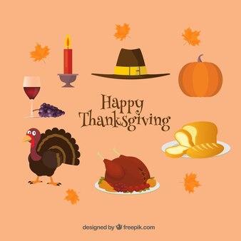 Set of thanksgiving elements