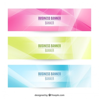 Set of three abstract business banners