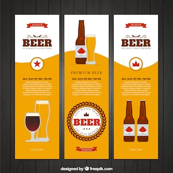 Set of three beer banners