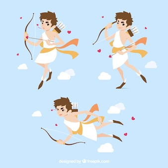 Set of three cupid characters
