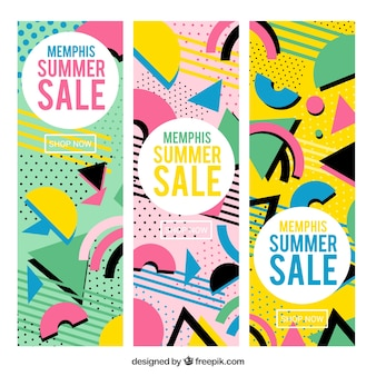 Set of three memphis sales banners