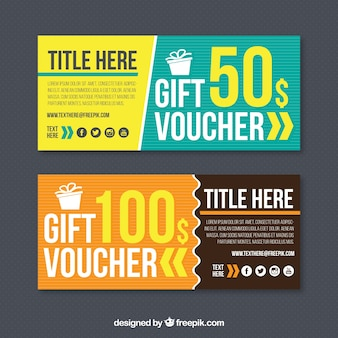 Set of two gift vouchers